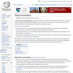 Client (économie)