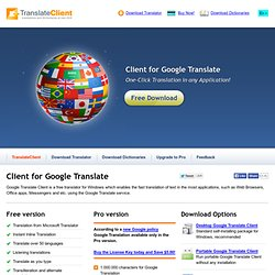 Client for Google Translate - Free translator