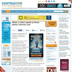 What a client needs to know about contract law