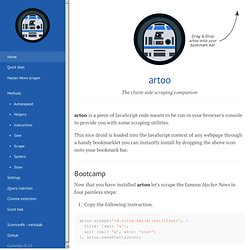 artoo · The client-side scraping companion.