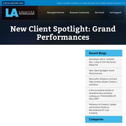 New Client Spotlight: Grand Performances