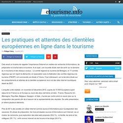 Les pratiques et attentes des clientèles européennes en ligne dans le tourisme