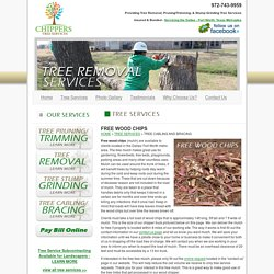 Free Wood Chips - Tree Mulch - For Clients of Chippers Tree Service - Dallas, Fort Worth Texas Tree Service