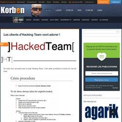 Les clients d'Hacking Team vont adorer !