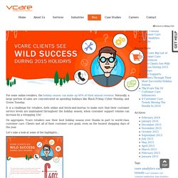 Vcare Clients See Wild Success During 2015 Holidays