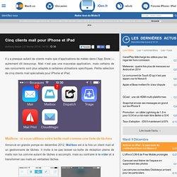 Cinq clients mail pour iPhone et iPad
