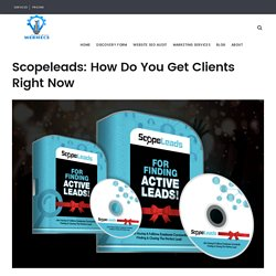 How Do You Get Clients Right Now? Scopeleads