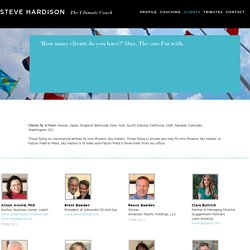 Clients – Steve Hardison