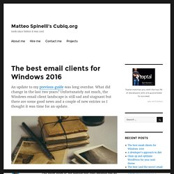 The best email clients for Windows 2016 – Matteo Spinelli's Cubiq.org