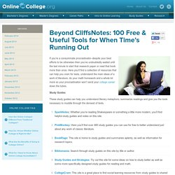 Beyond CliffsNotes: 100 Free & Useful Tools for When Time's Running...