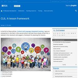 CLIL: A lesson framework