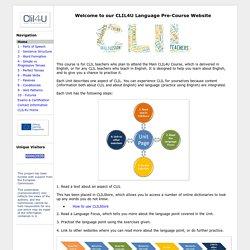 CLIL4U Language Pre-Course