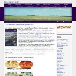 Le 10 conferme del Quinto Rapporto IPCC