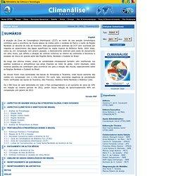 Climanálise - Boletim