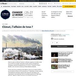 table ronde sur le rôle de la société civile dans la lutte contre le changement climatique, samedi 26 septembre de 15 h 30 à 17 heures à l'Opéra Bastille