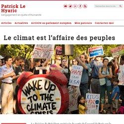 Le climat est l'affaire des peuples – Le Blog de Patrick Le Hyaric