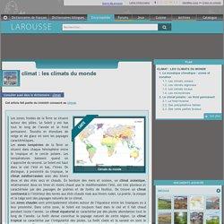 climat : les climats du monde