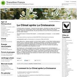 Le Climat après La Croissance « Transition France