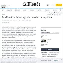 Le climat social se dégrade dans les entreprises