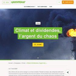 Climat et dividendes, l'argent du chaos 7 mai 2020
