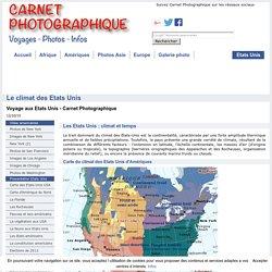Le climat aux Etats Unis USA et carte du climat américain