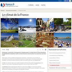 Le climat de la France: informations et cartes