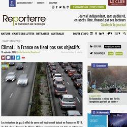Climat: la France ne tient pas ses objectifs