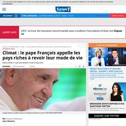 Climat : le pape François appelle les pays riches à revoir leur mode de vie