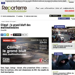 Climat : le grand bluff des multinationales
