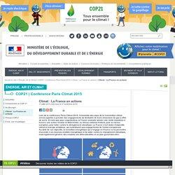 Climat : La France en actions