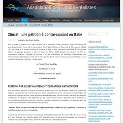 Climat : une pétition à contre-courant en Italie