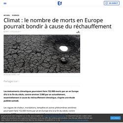 Climat : le nombre de morts en Europe pourrait bondir à cause du réchauffement