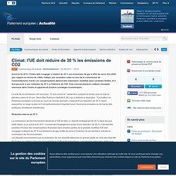 PARLEMENT EUROPEEN 24/05/11 Climat: l'UE doit réduire de 30 % les émissions de CO2