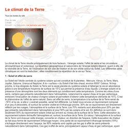 Le climat de la Terre - CNRS sagascience - Tous les textes du site