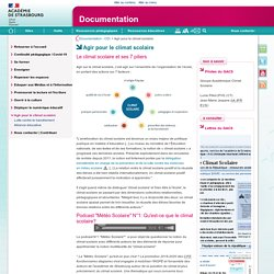 Agir pour le climat scolaire - Documentation