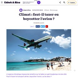 Climat :faut-il taxer ou boycotter l'avion?
