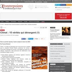 Climat : 15 vérités qui dérangent (1)