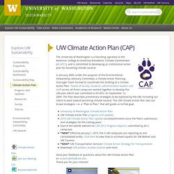 UW Climate Action Plan (CAP)