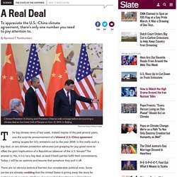 Obama's U.S.-China climate agreement: Carbon budget and exponential curves show why this is a fair deal.