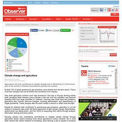 OCDE OBSERVER - MARS 2010 - Climate change and agriculture