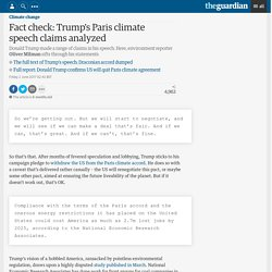 Fact check: Trump's Paris climate speech claims analyzed