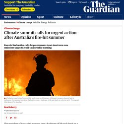 Climate summit calls for urgent action after Australia's fire-hit summer