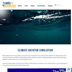 Climate Bathtub Simulation