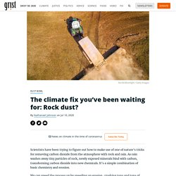 The climate fix you've been waiting for: Rock dust?