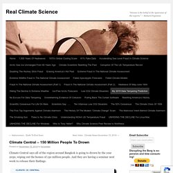 Climate Central – 150 Million People To Drown
