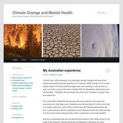 How climate change is affecting mental health status