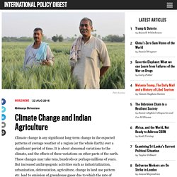 Climate Change and Indian Agriculture