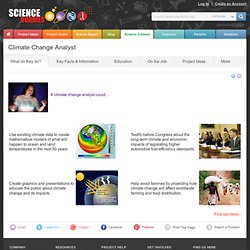 Scientist Careers: Climate Change Analyst