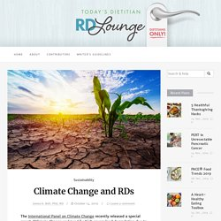 Climate Change and RDs – RDLounge.com