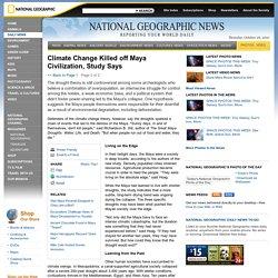 Climate Change Killed off Maya Civilization, Study Says